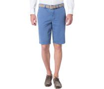 Herren Hose Shorts Modern Fit Baumwoll-Stretch blau
