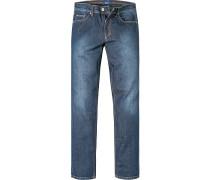 Jeans Classic Fit Baumwoll-Stretch jeansblau