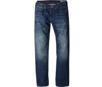 Herren Jeans Straight Fit Baumwolle indigo blau