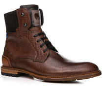 Schuhe Stiefeletten Kalbleder cognac gemustert