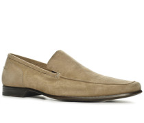 Schuhe Slipper Kalbvelours sand