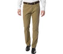 Herren Blue-Jeans Regular Fit Baumwoll-Stretch camel braun