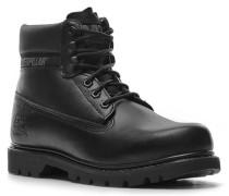 Herren Schuhe Schnürstiefeletten Leder schwarz