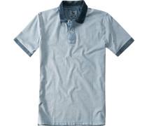 Herren Polo Baumwoll-Jersey jeansblau