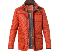 Steppjacke Microfaser orange