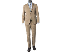 Herren Anzug Baumwoll-Stretch greige beige