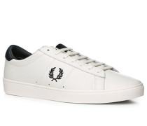 Herren Schuhe Sneaker Leder weiß weiß,schwarz