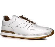 Herren Schuhe Sneakers Leder off white weiß,braun