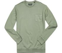 Pullover, Baumwolle, khaki
