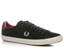 Herren Schuhe Sneaker Veloursleder schwarz schwarz,rot,schwarz