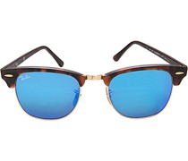 Brillen Sonnenbrille Clubmaster Kunststoff -türkis