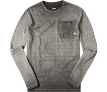T-Shirt Longsleeve Slim Fit Baumwolle