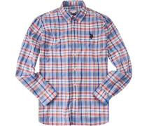 Hemd Regular Fit Baumwolle blau-weiß-rot kariert