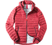 Daunen-Jacke Regular Fit Microfaser wasserdicht rot