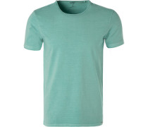 T-Shirt, Body Fit, Baumwolle, mintgrün