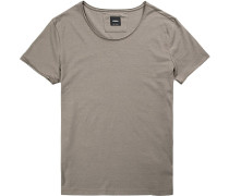 T-Shirt Regular Fit Baumwolle oliv