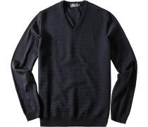 Pullover Pulli Merinowolle-Baumwolle marine