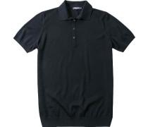 Polo-Shirt Polo Merinowolle marine