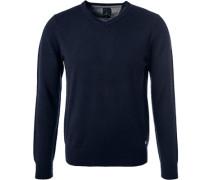 Pullover, Modern Fit, Kaschmir, marineblau