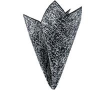 Accessoires Einstecktuch Seide -weiß gemustert