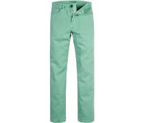 Herren Jeans Classik Fit Baumwoll-Stretch hellgrün