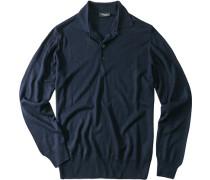 Pullover Seide-Kaschmir marineblau