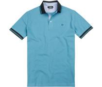 Polo-Shirt Polo Baumwoll-Pique capriblau