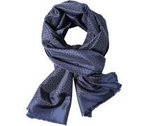 Schal Seide-Wolle gemustert