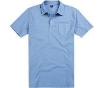 Polo-Shirt Polo Baumwoll-Jersey hellblau
