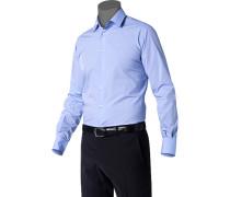 Hemd Ultra Slim Fit Baumwolle hellblau