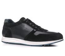 Herren Schuhe Sneaker Kalbleder-Mix schwarz schwarz,blau