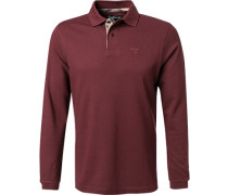 Polo-Shirt Polo Baumwoll-Pique bordeaux