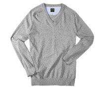 Pullover, Modern Fit, Baumwolle, silbergrau