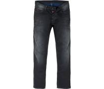 Herren Jeans Regular Fit Baumwolle dunkelgrau