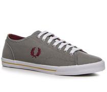 Herren Schuhe Sneaker Canvas grau grau,rot