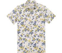 Hemd, Regular Fit, Baumwolle, ecru-gelb gemustert