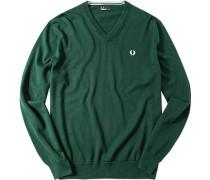 Pullover Baumwolle tannengrün