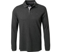 Polo-Shirt Polo Baumwoll-Pique anthrazit meliert