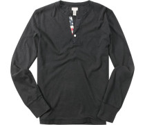 Herren T-Shirt Long-Sleeve Baumwolle schwarz