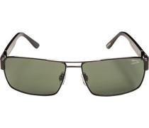 Herren Brillen Sonnenbrille Metall schwarz-grün
