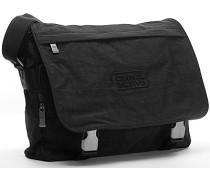 Herren Tasche  Messenger Bag Microfaser schwarz