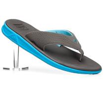 Schuhe Zehensandalen Textil Swellular-Techniologie grau-türkis