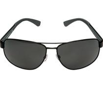 Brillen Sonnenbrille, Metall-Kunststoff, -grau