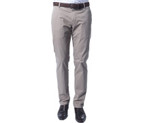 Herren Hose Chino Regular Fit Baumwoll-Stretch beige