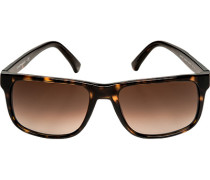 Brillen Sonnenbrille Metall-Kunststoff dunkelbraun-berstein mamoriert