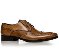 Herren Schuhe Budapester Leder cognac braun,grau