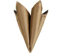Accessoires Einstecktuch Seide goldgelb-schwarz gemustert