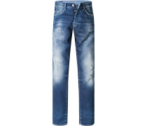 Herren Jeans Baumwoll-Stretch 12 oz denim blau