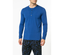 Schlafanzug Longsleeve Baumwolle-Modal
