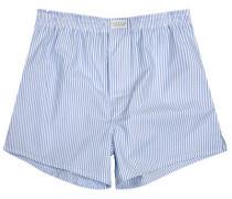 Herren Unterwäsche Boxer-Shorts Popeline hellblau-weiß gestreift